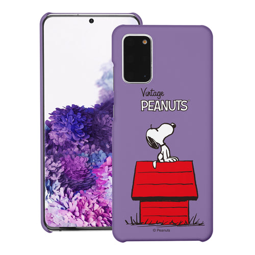 Galaxy S20 Ultra Case (6.9inch) [Slim Fit] PEANUTS Thin Hard Matte Surface Excellent Grip Cover - Simple Snoopy House