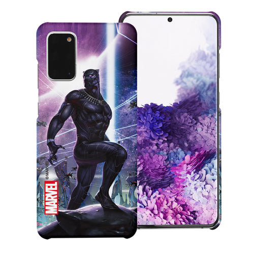 Galaxy S20 Case (6.2inch) Marvel Avengers [Slim Fit] Thin Hard Matte Surface Excellent Grip Cover - Black Panther Stand