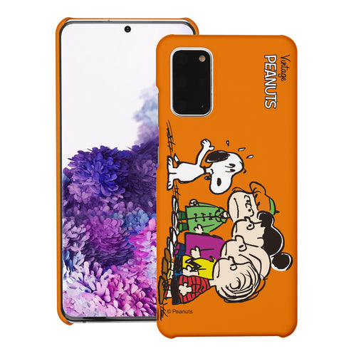 Galaxy S20 Ultra Case (6.9inch) [Slim Fit] PEANUTS Thin Hard Matte Surface Excellent Grip Cover - Cute Snoopy Friends