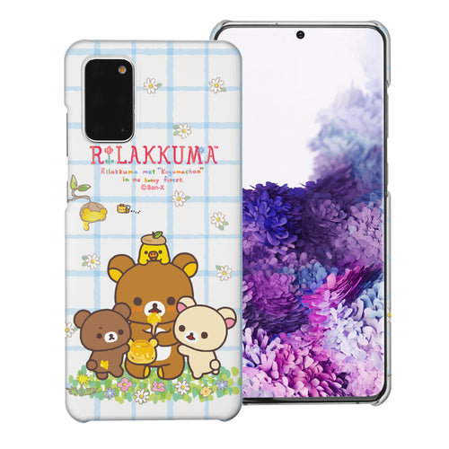Galaxy S20 Ultra Case (6.9inch) [Slim Fit] Rilakkuma Thin Hard Matte Surface Excellent Grip Cover - Rilakkuma Honey
