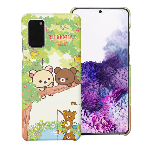 Galaxy S20 Ultra Case (6.9inch) [Slim Fit] Rilakkuma Thin Hard Matte Surface Excellent Grip Cover - Rilakkuma Forest