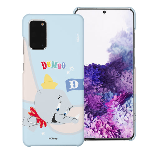 Galaxy Note20 Case (6.7inch) [Slim Fit] Disney Dumbo Thin Hard Matte Surface Excellent Grip Cover - Dumbo Fly