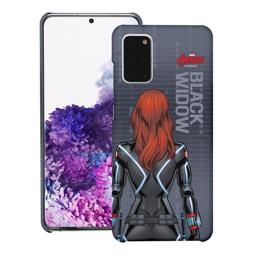 Galaxy Note20 Case (6.7inch) Marvel Avengers [Slim Fit] Thin Hard Matte Surface Excellent Grip Cover - Back Black Widow