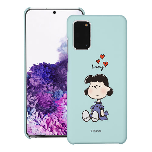 Galaxy S20 Ultra Case (6.9inch) [Slim Fit] PEANUTS Thin Hard Matte Surface Excellent Grip Cover - Lucy Heart Sit