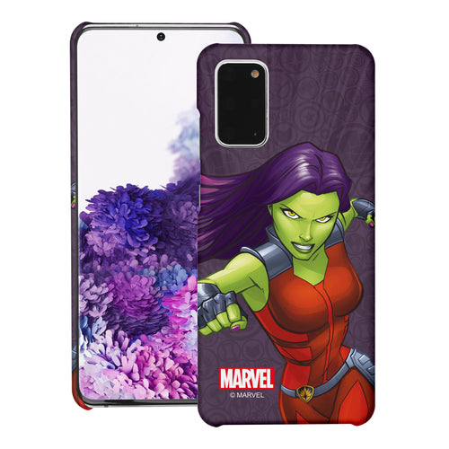 Galaxy Note20 Case (6.7inch) Marvel Avengers [Slim Fit] Thin Hard Matte Surface Excellent Grip Cover - Illustration Gamora