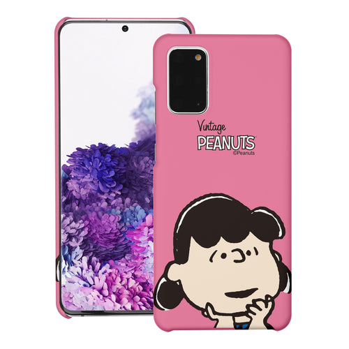 Galaxy S20 Ultra Case (6.9inch) [Slim Fit] PEANUTS Thin Hard Matte Surface Excellent Grip Cover - Face Lucy