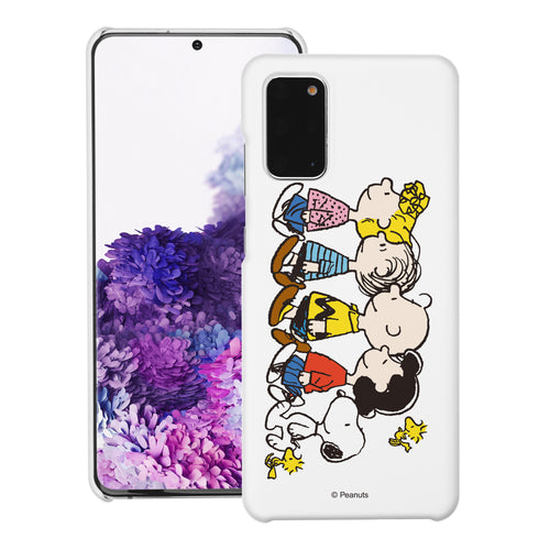 Galaxy S20 Ultra Case (6.9inch) [Slim Fit] PEANUTS Thin Hard Matte Surface Excellent Grip Cover - Peanuts Friends Stand