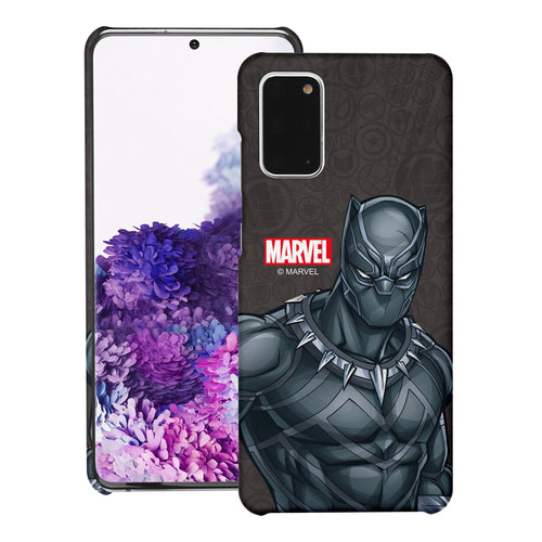 Galaxy Note20 Ultra Case (6.9inch) Marvel Avengers [Slim Fit] Thin Hard Matte Surface Excellent Grip Cover - Illustration Black Panther