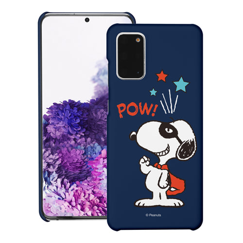 Galaxy S20 Ultra Case (6.9inch) [Slim Fit] PEANUTS Thin Hard Matte Surface Excellent Grip Cover - Snoopy Pow Navy