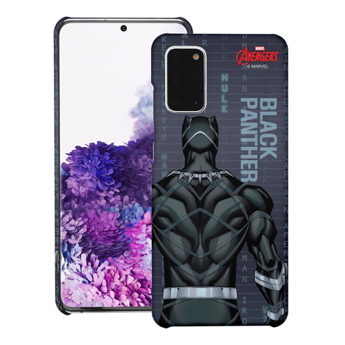 Galaxy Note20 Case (6.7inch) Marvel Avengers [Slim Fit] Thin Hard Matte Surface Excellent Grip Cover - Back Black Panther