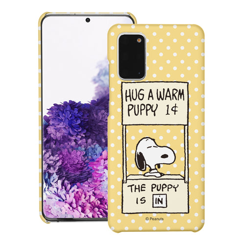 Galaxy S20 Ultra Case (6.9inch) [Slim Fit] PEANUTS Thin Hard Matte Surface Excellent Grip Cover - Hug Warm Snoopy