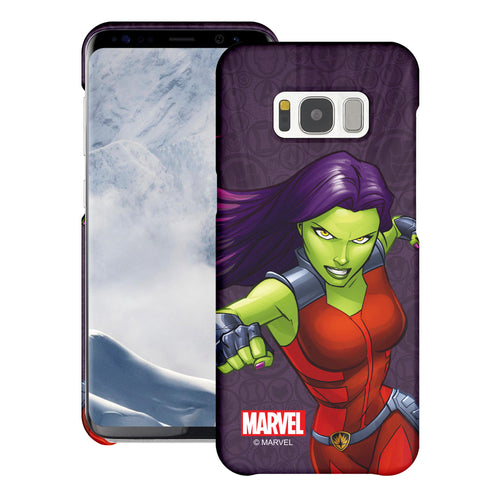 Galaxy S6 Case (5.1inch) Marvel Avengers [Slim Fit] Thin Hard Matte Surface Excellent Grip Cover - Illustration Gamora