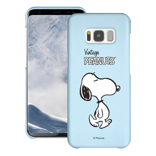 Galaxy S8 Case (5.8inch) [Slim Fit] PEANUTS Thin Hard Matte Surface Excellent Grip Cover - Vivid Snoopy Walking