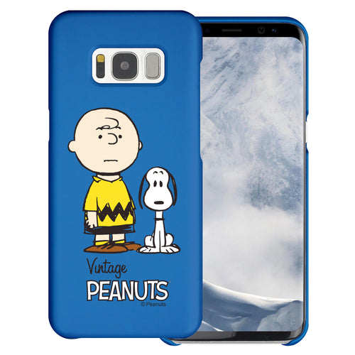 Galaxy S6 Edge Case [Slim Fit] PEANUTS Thin Hard Matte Surface Excellent Grip Cover - Cute Snoopy Charlie Brown