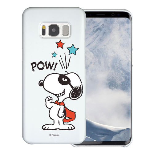 Galaxy S8 Plus Case [Slim Fit] PEANUTS Thin Hard Matte Surface Excellent Grip Cover - Snoopy Pow Mint