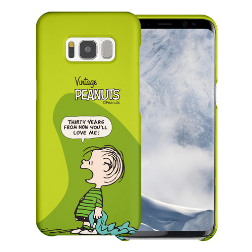 Galaxy S8 Case (5.8inch) [Slim Fit] PEANUTS Thin Hard Matte Surface Excellent Grip Cover - Cartoon Linus