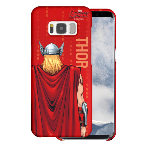 Galaxy S7 Edge Case Marvel Avengers [Slim Fit] Thin Hard Matte Surface Excellent Grip Cover - Back Thor