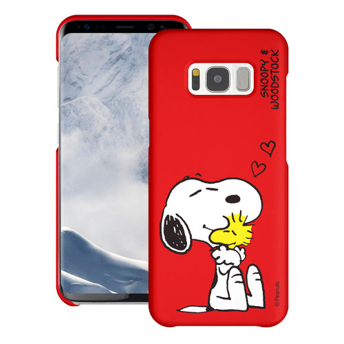 Galaxy S8 Plus Case [Slim Fit] PEANUTS Thin Hard Matte Surface Excellent Grip Cover - Smile Snoopy