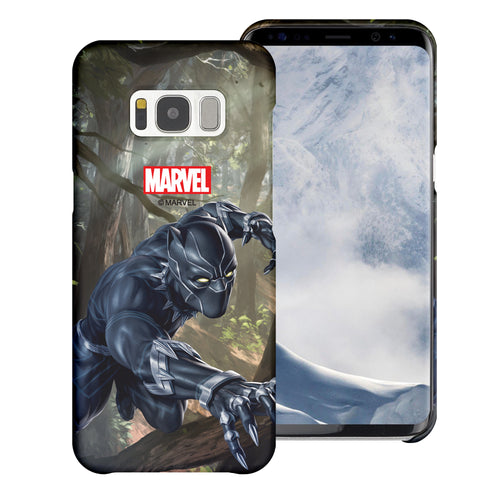 Galaxy S7 Edge Case Marvel Avengers [Slim Fit] Thin Hard Matte Surface Excellent Grip Cover - Black Panther Jungle