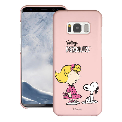 Galaxy S8 Plus Case [Slim Fit] PEANUTS Thin Hard Matte Surface Excellent Grip Cover - Vivid Snoopy Sally