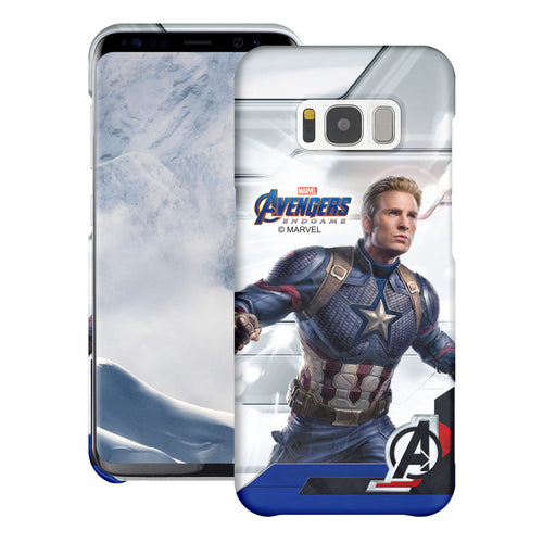 Galaxy S6 Case (5.1inch) Marvel Avengers [Slim Fit] Thin Hard Matte Surface Excellent Grip Cover - End Game Captain America