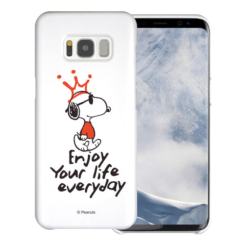Galaxy S8 Plus Case [Slim Fit] PEANUTS Thin Hard Matte Surface Excellent Grip Cover - Snoopy Crown