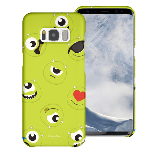 Galaxy S8 Plus Case [Slim Fit] Monsters University inc Thin Hard Matte Surface Excellent Grip Cover - Pattern Mike