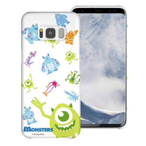 Galaxy S8 Plus Case [Slim Fit] Monsters University inc Thin Hard Matte Surface Excellent Grip Cover - Pattern Monsters