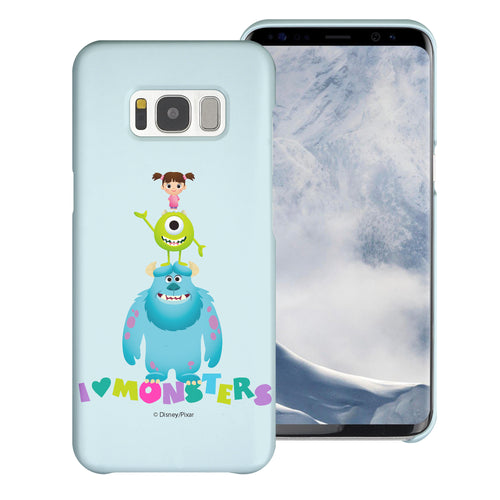 Galaxy S8 Plus Case [Slim Fit] Monsters University inc Thin Hard Matte Surface Excellent Grip Cover - Simple Together