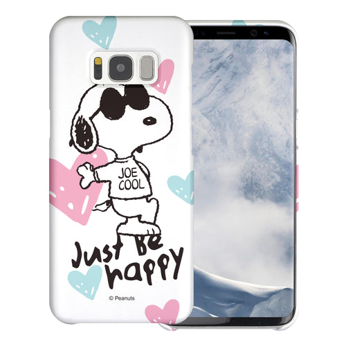 Galaxy S8 Case (5.8inch) [Slim Fit] PEANUTS Thin Hard Matte Surface Excellent Grip Cover - Snoopy Love Pink