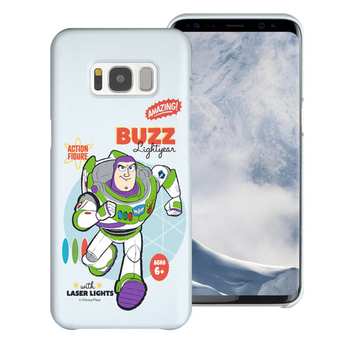 Galaxy S8 Plus Case [Slim Fit] Toy Story Thin Hard Matte Surface Excellent Grip Cover - Full Buzz
