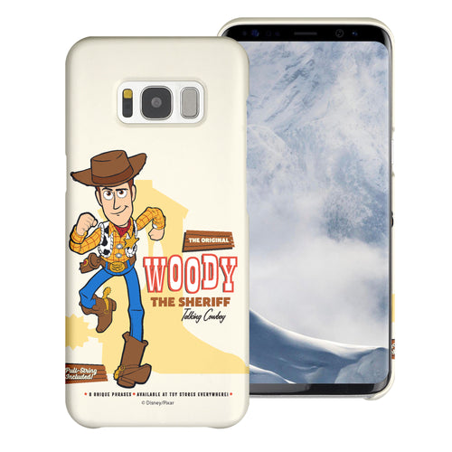 Galaxy S8 Plus Case [Slim Fit] Toy Story Thin Hard Matte Surface Excellent Grip Cover - Full Woody