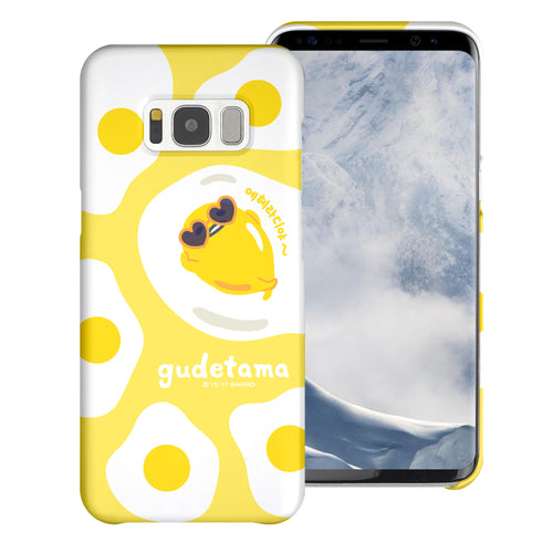 Galaxy S6 Case (5.1inch) [Slim Fit] Sanrio Thin Hard Matte Surface Excellent Grip Cover - Rest Gudetama Yellow