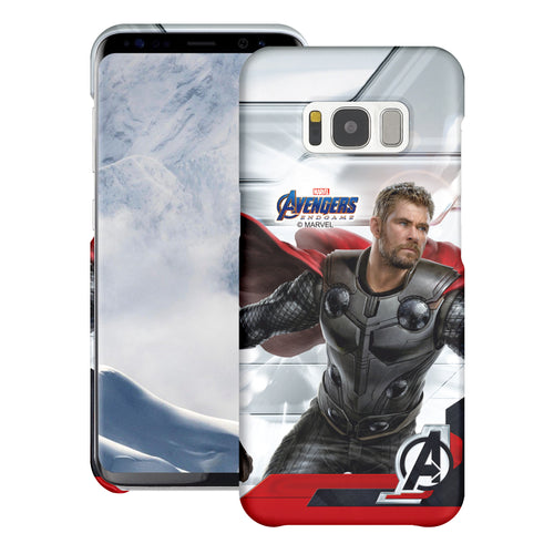 Galaxy S7 Edge Case Marvel Avengers [Slim Fit] Thin Hard Matte Surface Excellent Grip Cover - End Game Thor