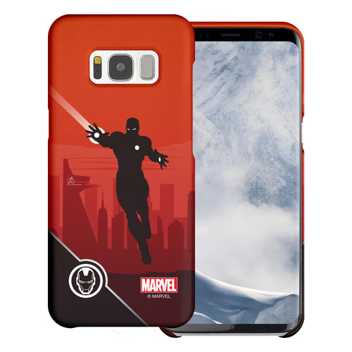 Galaxy S6 Case (5.1inch) Marvel Avengers [Slim Fit] Thin Hard Matte Surface Excellent Grip Cover - Shadow Iron Man