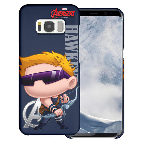 Galaxy S7 Edge Case Marvel Avengers [Slim Fit] Thin Hard Matte Surface Excellent Grip Cover - Mini Hawkeye