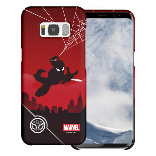 Galaxy S7 Edge Case Marvel Avengers [Slim Fit] Thin Hard Matte Surface Excellent Grip Cover - Shadow Spider Man