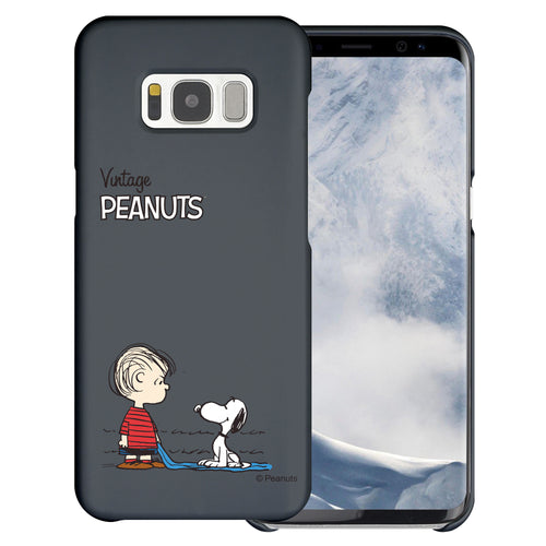 Galaxy S8 Plus Case [Slim Fit] PEANUTS Thin Hard Matte Surface Excellent Grip Cover - Small Snoopy Linus