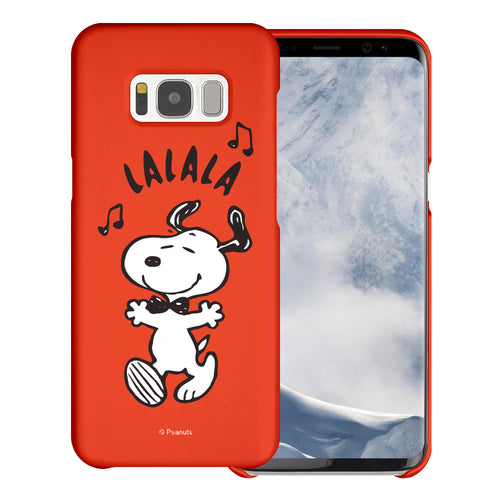 Galaxy S8 Case (5.8inch) [Slim Fit] PEANUTS Thin Hard Matte Surface Excellent Grip Cover - Snoopy Lalala