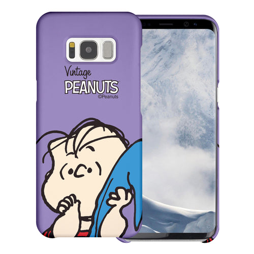 Galaxy S8 Case (5.8inch) [Slim Fit] PEANUTS Thin Hard Matte Surface Excellent Grip Cover - Face Linus