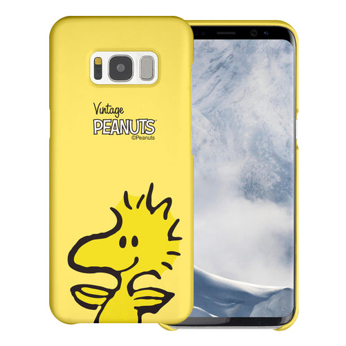 Galaxy S8 Case (5.8inch) [Slim Fit] PEANUTS Thin Hard Matte Surface Excellent Grip Cover - Face Woodstock