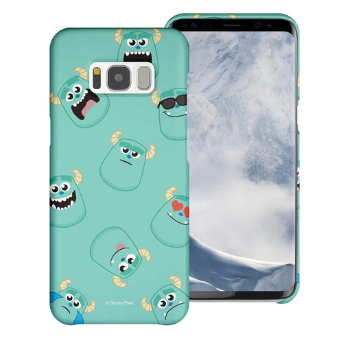 Galaxy S8 Plus Case [Slim Fit] Monsters University inc Thin Hard Matte Surface Excellent Grip Cover - Pattern Sulley