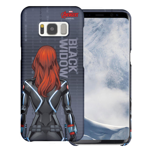 Galaxy S6 Edge Case Marvel Avengers [Slim Fit] Thin Hard Matte Surface Excellent Grip Cover - Back Black Widow