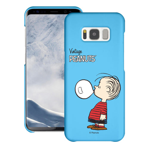 Galaxy S6 Edge Case [Slim Fit] PEANUTS Thin Hard Matte Surface Excellent Grip Cover - Simple Linus