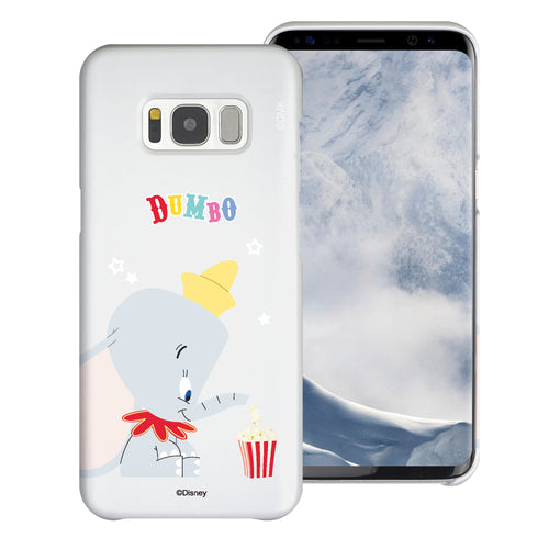 Galaxy S8 Case (5.8inch) [Slim Fit] Disney Dumbo Thin Hard Matte Surface Excellent Grip Cover - Dumbo Popcorn