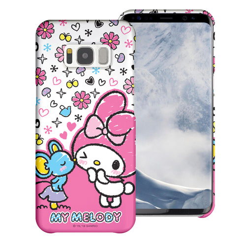 Galaxy S8 Case (5.8inch) [Slim Fit] Sanrio Thin Hard Matte Surface Excellent Grip Cover - Kiss My Melody