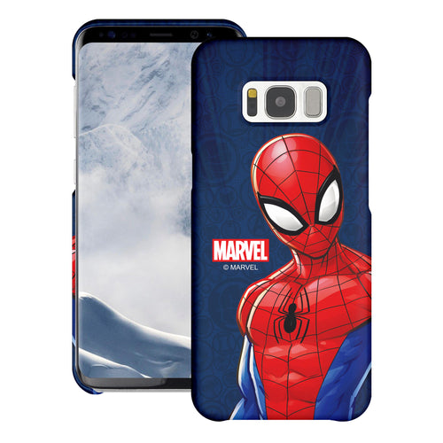 Galaxy S6 Case (5.1inch) Marvel Avengers [Slim Fit] Thin Hard Matte Surface Excellent Grip Cover - Illustration Spider Man