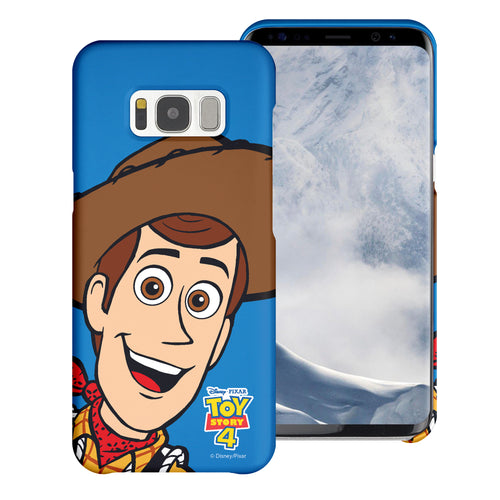 Galaxy S8 Plus Case [Slim Fit] Toy Story Thin Hard Matte Surface Excellent Grip Cover - Wide Woody