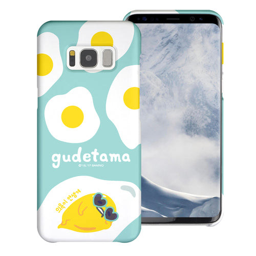 Galaxy S6 Case (5.1inch) [Slim Fit] Sanrio Thin Hard Matte Surface Excellent Grip Cover - Rest Gudetama Mint