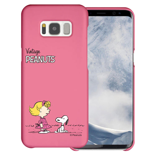 Galaxy S8 Case (5.8inch) [Slim Fit] PEANUTS Thin Hard Matte Surface Excellent Grip Cover - Small Snoopy Sally